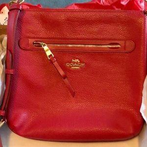 New Coach F34823 Mae Crossbody Pebble Leather Bag